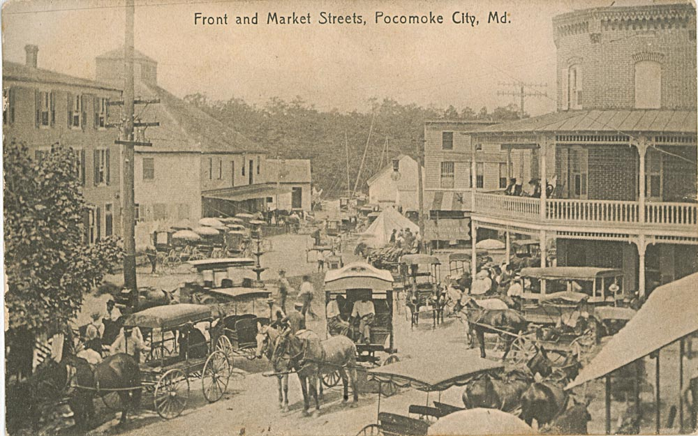 Front Side of Post Card, Front And Market Street