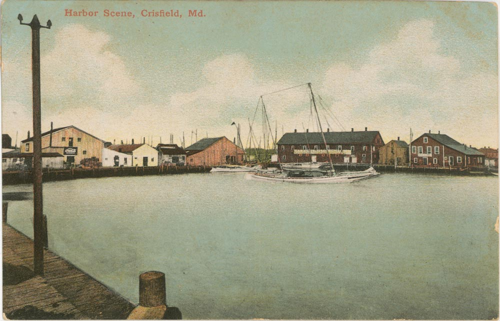 Front Side of Post Card, Harbor Scene