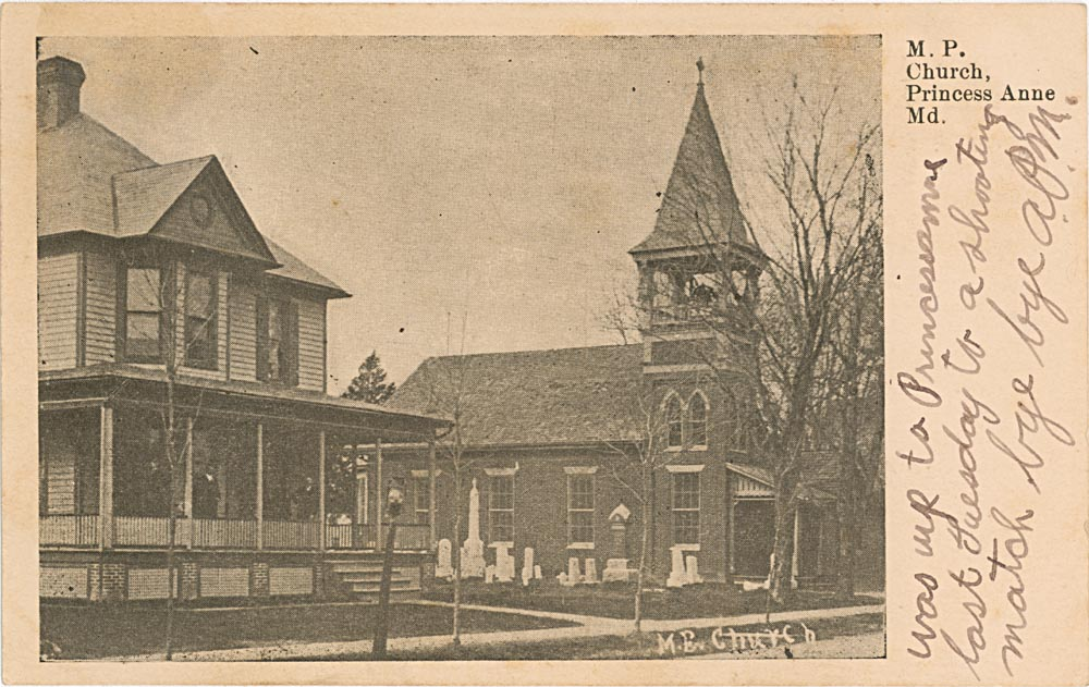 Front Side of Post Card, Manokin Presbyterian Church