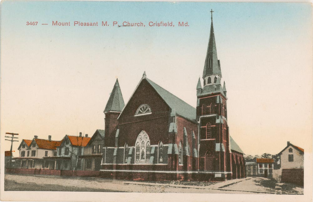 Front Side of Post Card, Mount Pleasant United Methodist Church