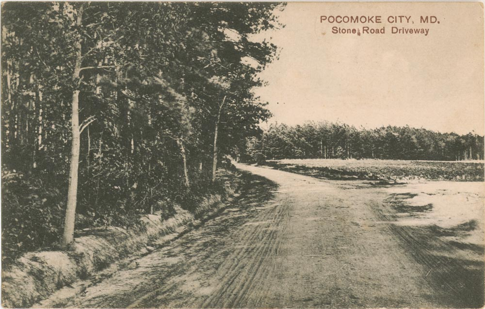 Front Side of Post Card, Stone Road Driveway